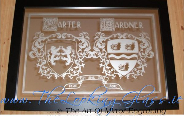 A unique and personalised mirror engraving made in Ireland