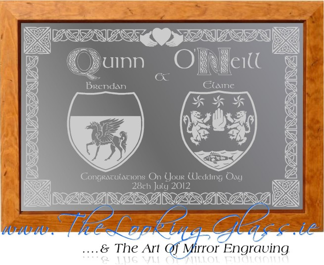 Danielle's words about her Quinn & O'Neill coat of arms engraved mirror