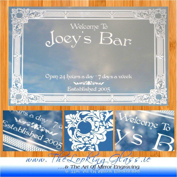 Personalised engraved birthday gift for 'Joey's Bar…..