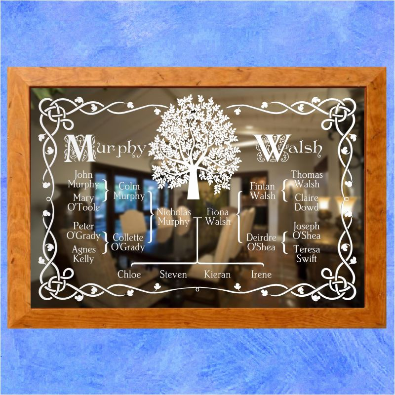 Wedding Anniversary Etched Mirror Gift 4