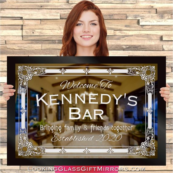 Home Bar & Pub Personalized Engraved Etched Mirrors